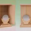 木箱のような御札舎本一社と神鏡を組み合わせた祭り方