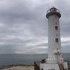 海沿いに立つ白亜の野間灯台とパワースポットつぶて浦の鳥居(美浜町・南知多町)
