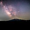 【天体撮影記 第24夜】  青森県 岩木山と天の川を撮影