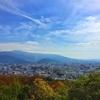長野県松本市、城山公園の展望台から松本を一望できるよ。