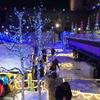 さっぽろ雪まつり閉幕後の雪像とバレンタイン当日の白い恋人パーク