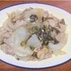 鶏肉と玉ねぎのガーリック炒め ヘルシオホットクックで自炊(114)