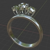 Blender 288日目。「ダイヤモンドリングのモデリング」その4。