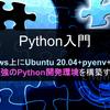 【Python入門】Windows10+pyenv+venvで最強のPython開発環境を構築する【2021年版】