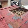 燕市秋葉町で車庫の屋根のカバー工事