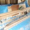 垂木の鉋掛け作業