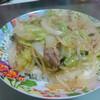 今日の晩飯 ありあわせの野菜で中華丼を作ってみた。