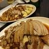 香港地元飯、鹵水:潮州料理、蠣仔粥、鹵水盛り合わせ(タマゴやら、ガチョウやら豚バラやら)潮州料理