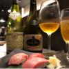 マグロ鮨には熟成ワイン