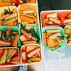 潰瘍性大腸炎のお弁当。寛解期と活動期の間。にんじんとポークビッツ炒め