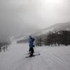 絶景の連続の道中。そして高レベルの雪質。アサマ2000スキー場。