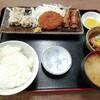 西川口の「あおき食堂」でしゅうまいカレーコロッケ肉巻き定食を食べました★
