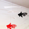 夢の金魚、林たけおの「波紋と蝶翅尾(アゲハ)琉金のモビール」