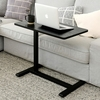 在宅勤務でソファー、ベッドで仕事ができる 山善 昇降式 サイドテーブル KUT-7040(GBK)