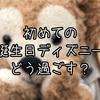 【インパ日記】初めての誕生日ディズニー!初めてのバースデーシール!