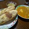 今日の晩飯 懐かしの給食で食べた味 きな粉揚げパン カレーシチュー 春雨サラダを作ってみた