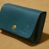 アコーディオン型の小銭・カード入れ(ブルー)