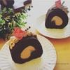 手作りチョコロールケーキ