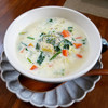 ほっこりする豆腐と野菜のクリームスープ♪<おうちごはん|おすすめレシピ>