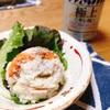 旬の里芋でポテトサラダ。里芋の食感と粘りがクセになる~