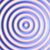 ライトで照らされたサイン波の表面