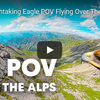 アルプス上空を飛ぶ鷹の目から見た絶景