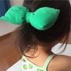 緑のポロシャツをリメイク★デカリボンヘアゴム作り方