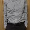 GUのピンオックスフォードシャツ