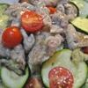 豚肉入り、塩味のラタトイユ風