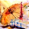 傘のモチーフ