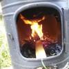 薪ストーブで羽釜を使ったごはん炊き7回目とレモンバームを植えた(`・ω・´)