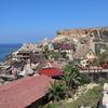 地中海の海とポパイ村