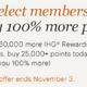 IHGポイント購入が100%ボーナスの割引セール(対象者限定)、11/3まで。ポイント単価は0.66円。