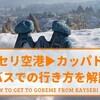 【実体験】カイセリ空港からカッパドギア(ギョレメ)への移動方法を解説
