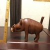 00026『動物木彫:モリイノシシ(?)』(【ケニア】ハンドカービング)