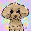 トイプードルのデジタル画サンプル