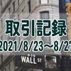 2021/8/23週の米国株オプション取引(確定利益$522、含み損$-5,959)