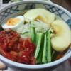 今日の晩飯 盛岡冷麺と十和田バラ焼きを作ってみた
