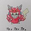 【塗り直し&再アップ】ピカチュウ(デスタムーアコスプレ) Pikachu, Deathtamoor style.