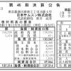 日本サムスン株式会社 第46期決算公告