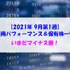 【株式】週間運用パフォーマンス&保有株一覧(2021.9.3時点) いまだマイナス圏!