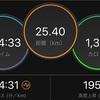 早朝25kmjog。蒸し暑いけど、我慢我慢の練習。
