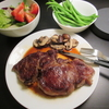 肉を食べる1  ハツ