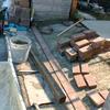 車庫改装1-3(土間レンガ敷き)