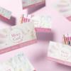 【ネイルサロン次回予約カード】可愛い名刺|美容室次回ご予約カード・サロン割引ご紹介ショップカード