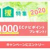 ECナビで抽選で50名様に1000円分当たる!生活応援特集2020年!