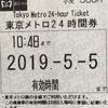 東京メトロ24時間券で旅育②  全路線に乗ってみたい