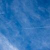 飛行機雲の写真たち