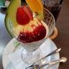 新潟スイーツ・ナカシマ糸魚川店「いちごパフェ」などのメニューが味わえる喫茶スペースもアリ