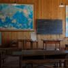 十津川武蔵小学校の教室や展示品